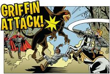 Comic strip from Merlin magazine no copyright infringement intended credits to BBC