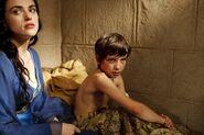 Mordred enfant avec Morgane