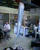 Aquamarine Tail in Studio
