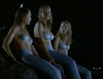 Diana, June And Venus Sitting on a Rock