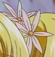 Princess lucia pink flower hairpins