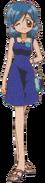 Hanons dark blue dress1