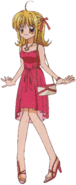 Lucia red dress outfit