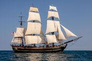 HMS BOUNTY II with Full Sails