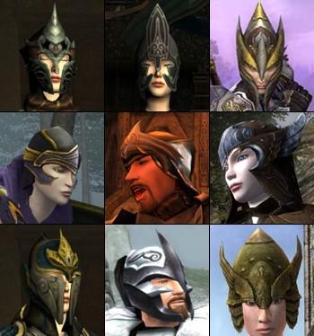 Elven Helmet Types
