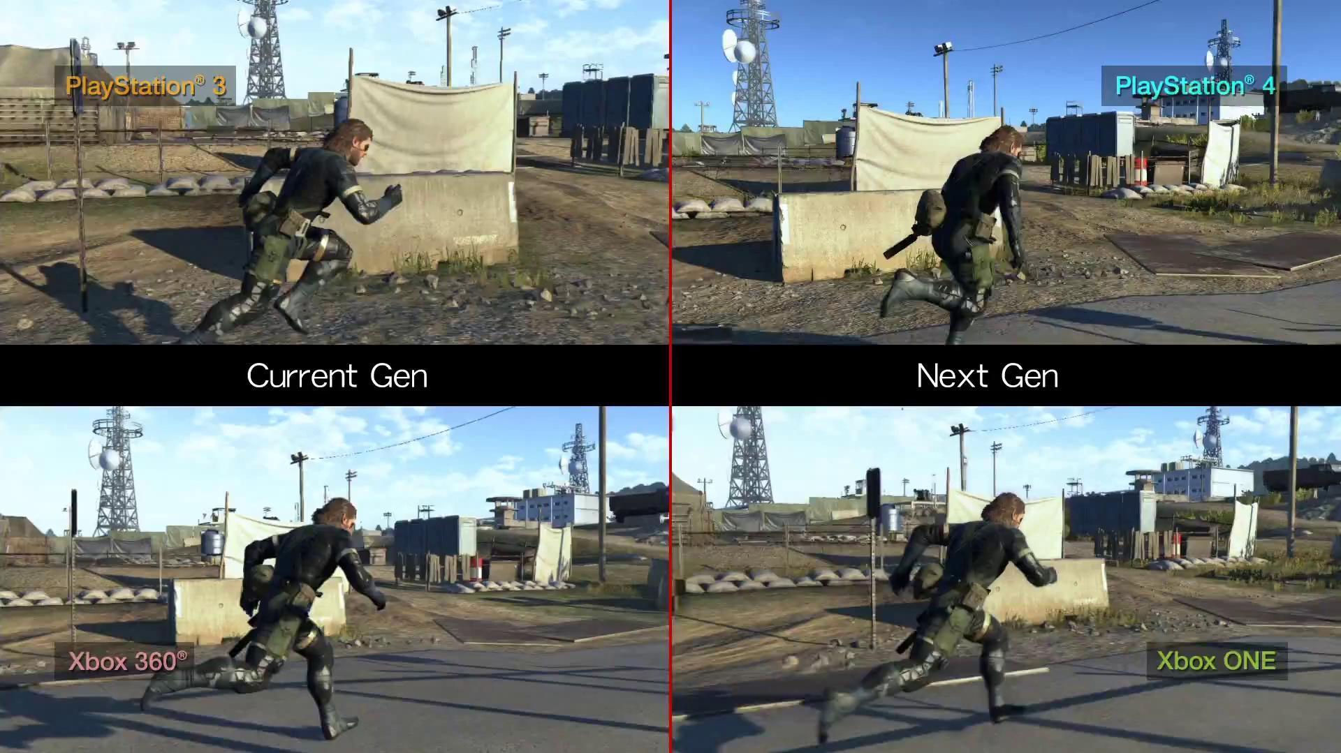 Metal Gear Solid V Ground Zeroes - Current Gen Next Gen comparisons HD