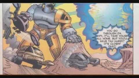 Power Rangers Turbo vs Beetleborgs Metallix comic Part 3