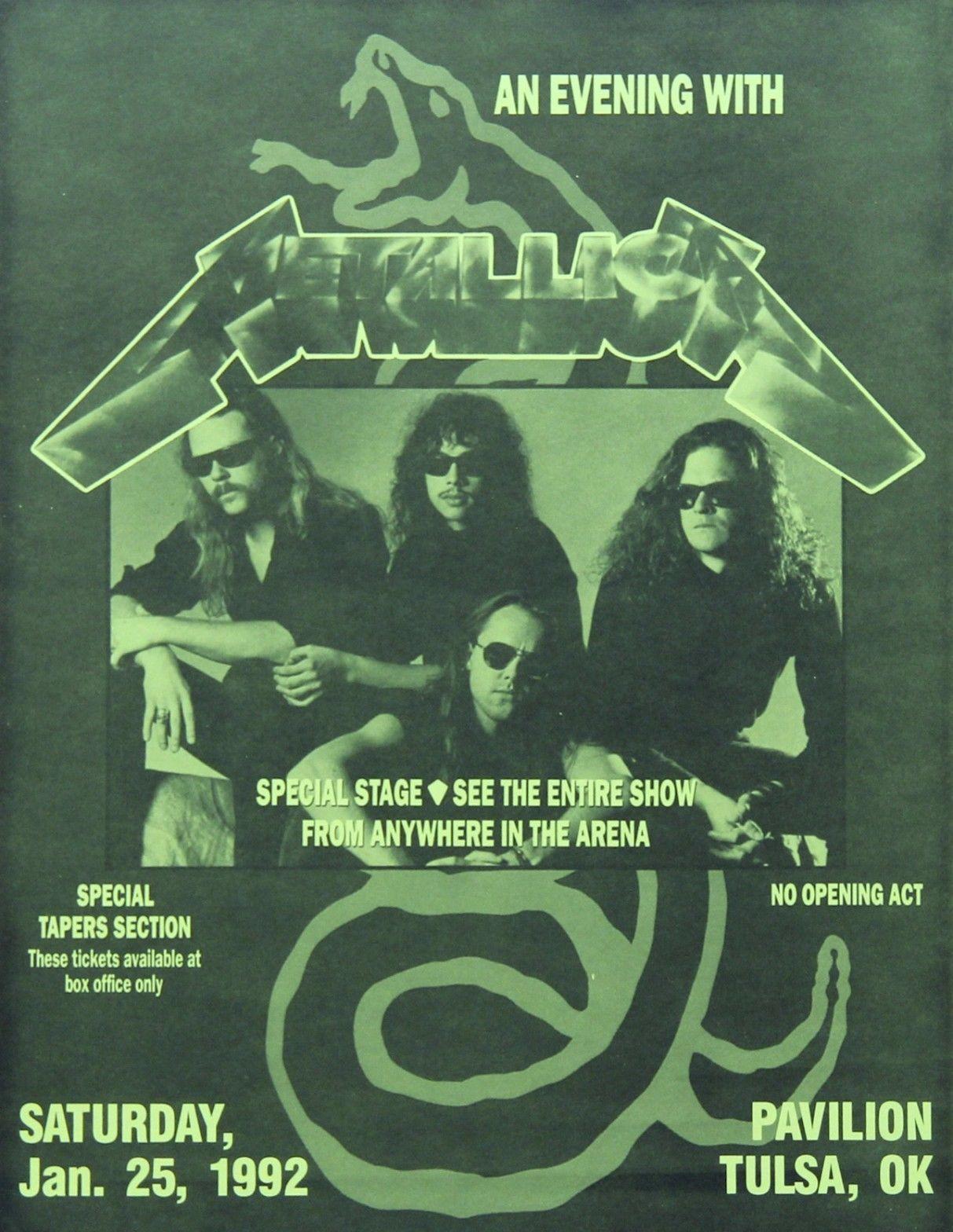 Song 1991 list moscow metallica Metallica Detail