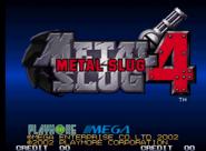 Metal Slug 4 logo