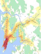 Heatmap of Mumbai Local Train & Station Density
