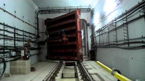Moscow metro blast proof door