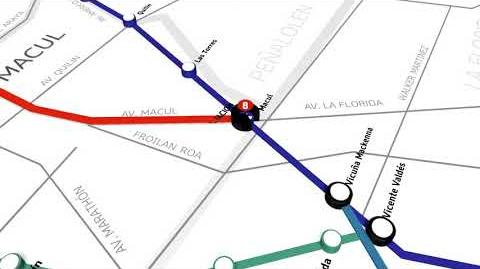 Conoce el recorrido que tendrá la futura Línea 8 del Metro de Santiago
