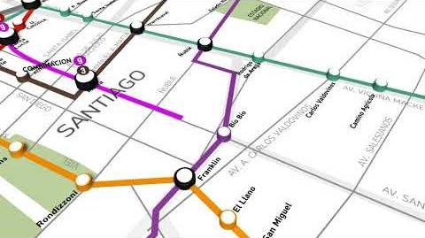 Mira el recorrido que tendrá la Línea 9 del Metro de Santiago