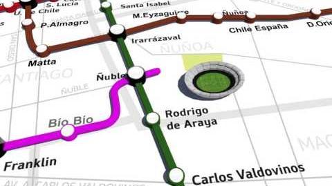 Revisa el trazado de la nueva Línea 6 de Metro de Santiago