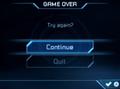 Samus Returns Game Over screen