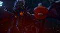 A Piercing Screech Ridley twirls Mario`s hat