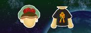 Miitomo Metroid Hat and 8-Bit Shirt