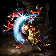 Samus vs Zeta Metroid in MSR
