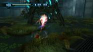 Samus disparando al groganch