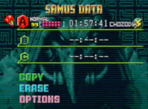 Datos de Samus