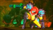 Samus entering Queen Metroid chamber