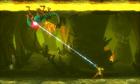 Shooting Grapple Beam at Zeta Metroid MSR