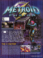 Metroid Fusion Nintendo Power ad