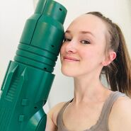 Jessica Martin with ThinkGeek Arm Cannon 1