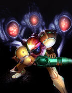 Samus Varia Suit Versus Warrior Ing HD Poster Trilogy Echoes Render