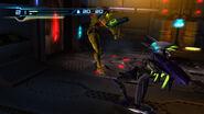 Samus luchando contra un zebesiano robot