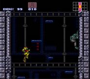 Tourian escape shaft - Super Metroid, active