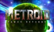 Samus Returns Title Screen