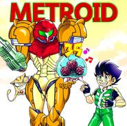 Idzuki Kouji dibujo Metroid 35 aniversario
