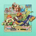 Samus, Min Min and Captain Falcon eating ramen