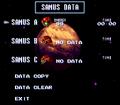 Data Select Screen SM