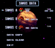 Data Select Screen SM