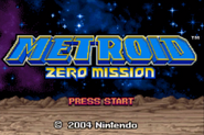Metroid Zero Mission Title Screen