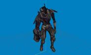 Modelo-artillero oscuro