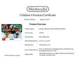 MSR amiibo CPSIA certificate