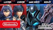 Ridley and Dark Samus SSBU gameplay thumbnail