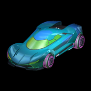Rocket League Samus's Gunship blue version