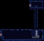 Overhang corridor full view - Super Metroid
