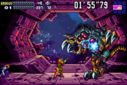 SA-X Fights against Omega Metroid MF