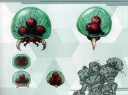 MSR Artbook Larva Metroid and baby