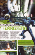 Metroid Prime 3 Spanish print with fake screenshot