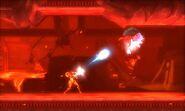 MSR Samus shooting Alpha Metroid