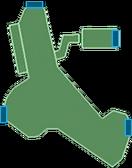 Karte Tallonische Kluft