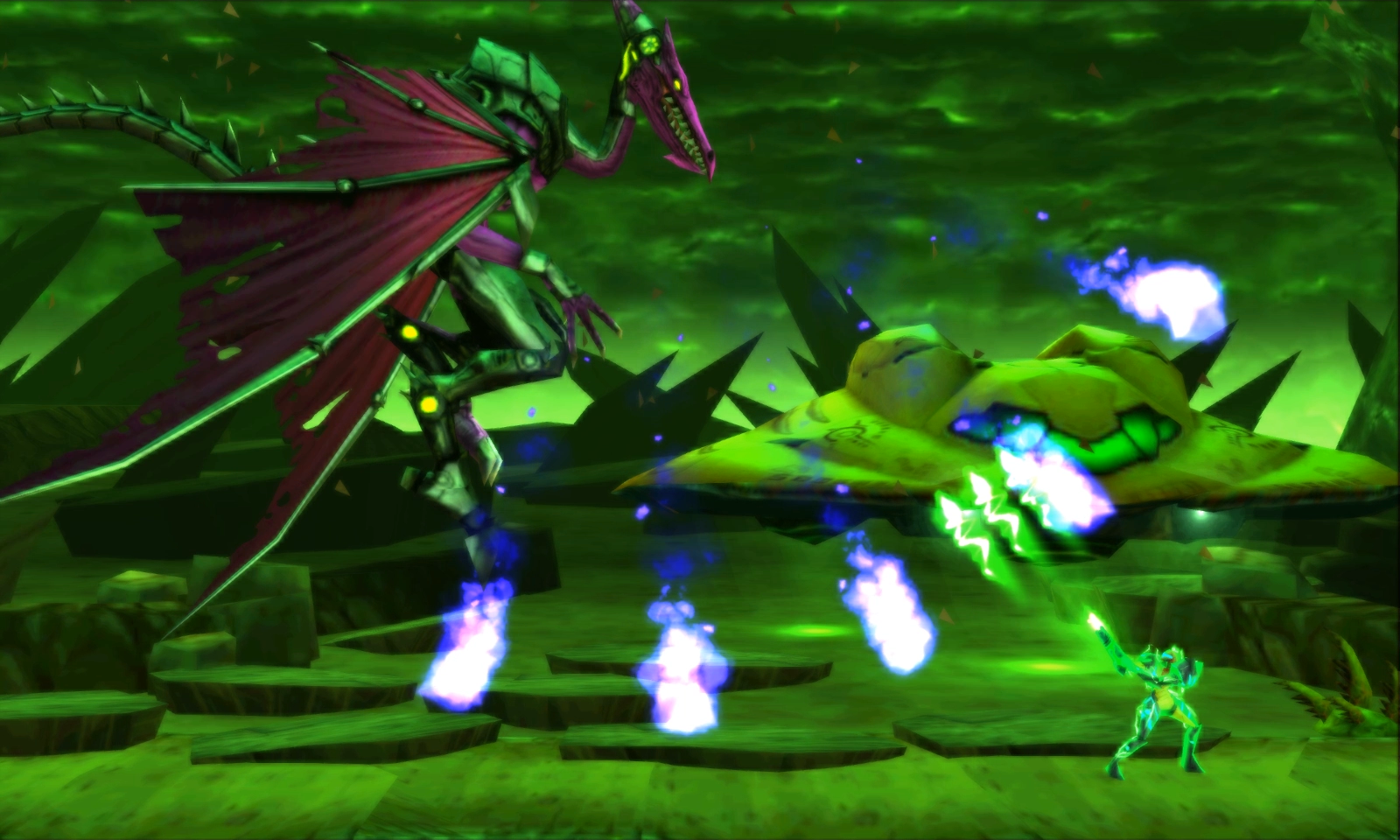Arcing-fireball attack