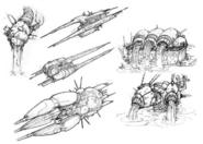 Space Pirate Battleship art