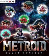 Eight Metroids growing